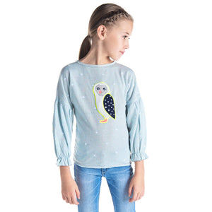 Furry Owl Sweatshirt for Girls