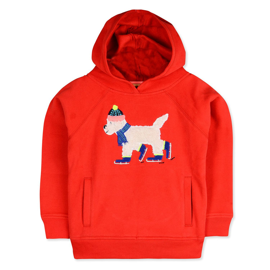 Bright embroidered sweatshirt for kids