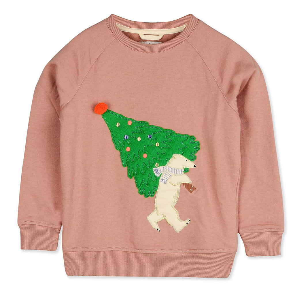 Knitted Fuzzy Christmas Winter Wear Sweatshirt for kids