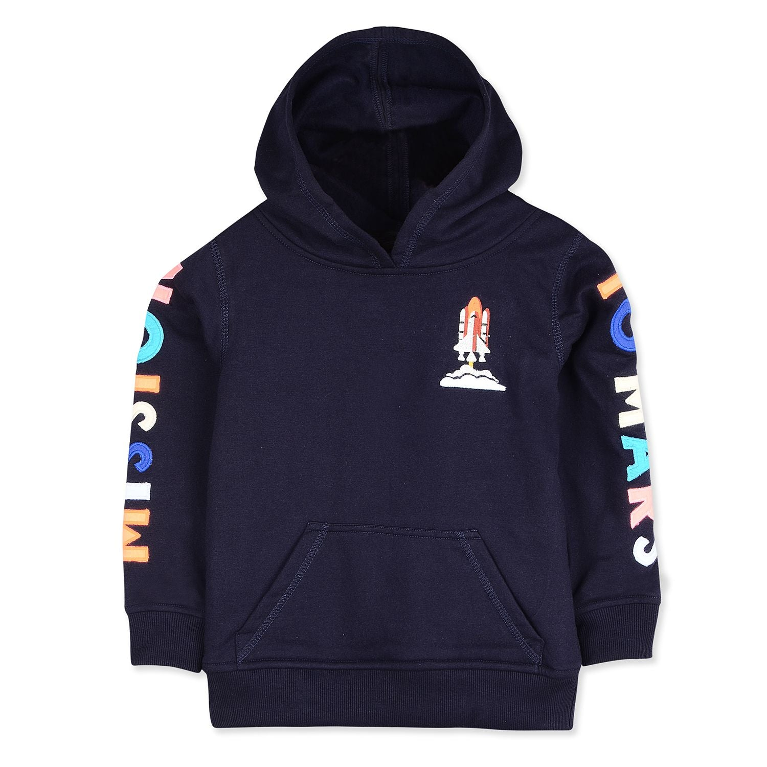 Mars applique Hoodie Sweatshirt for kids