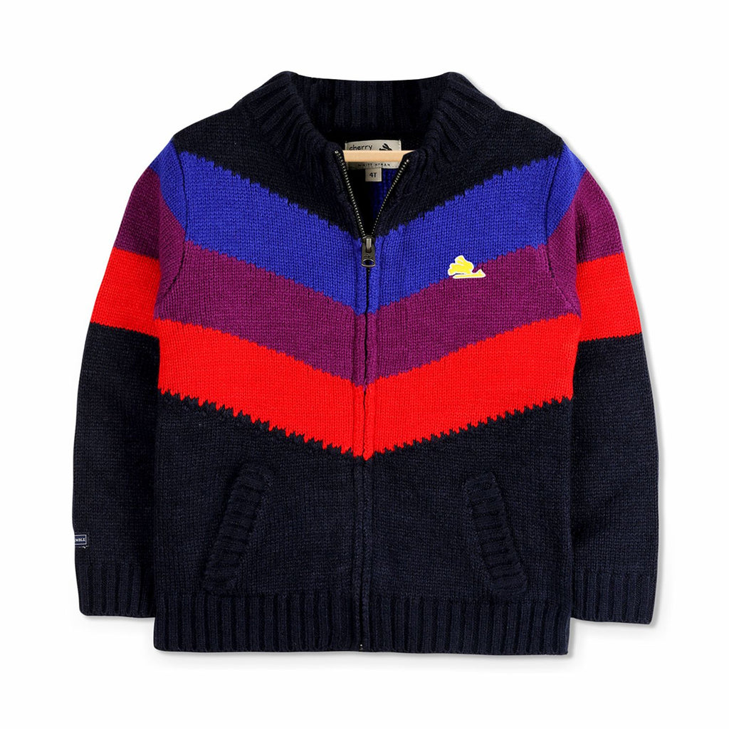 Zip Through Sweater for Boys