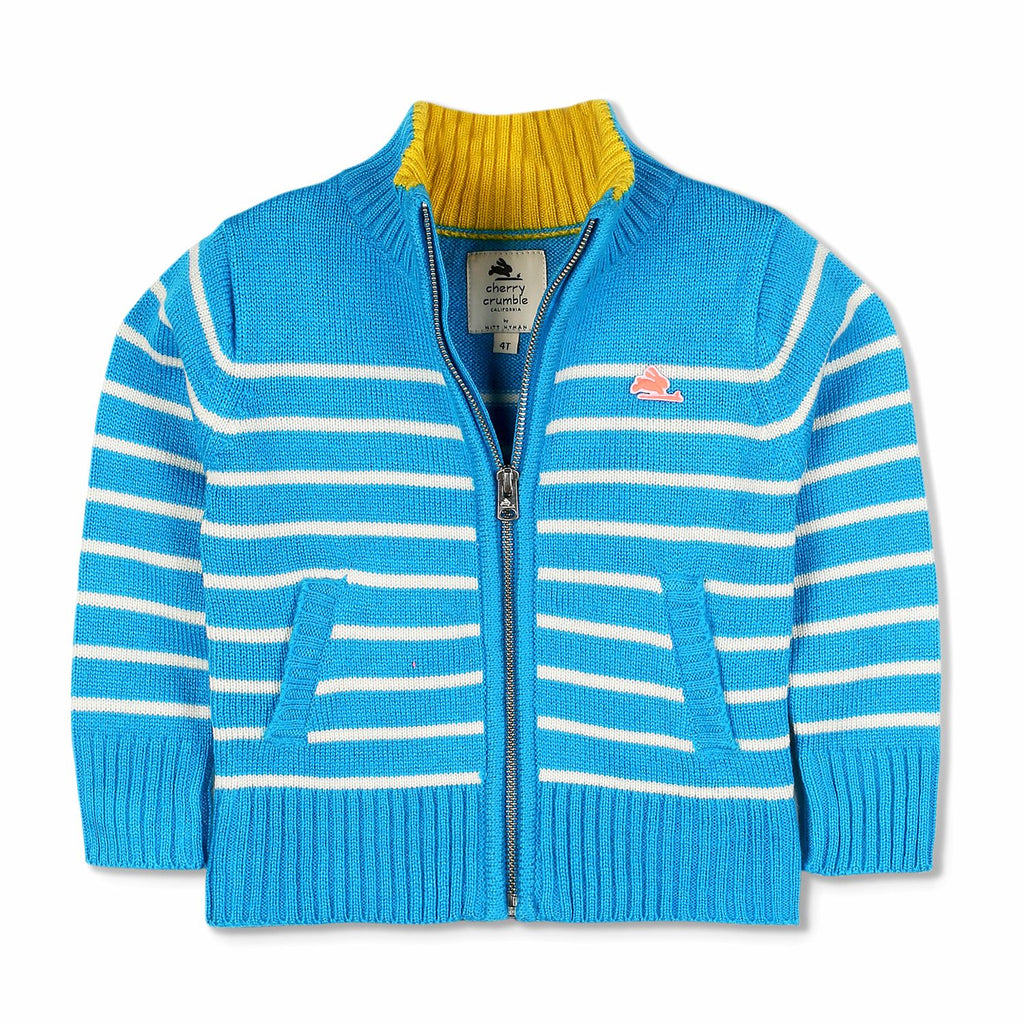 Zip Stripe Sweater for Boys