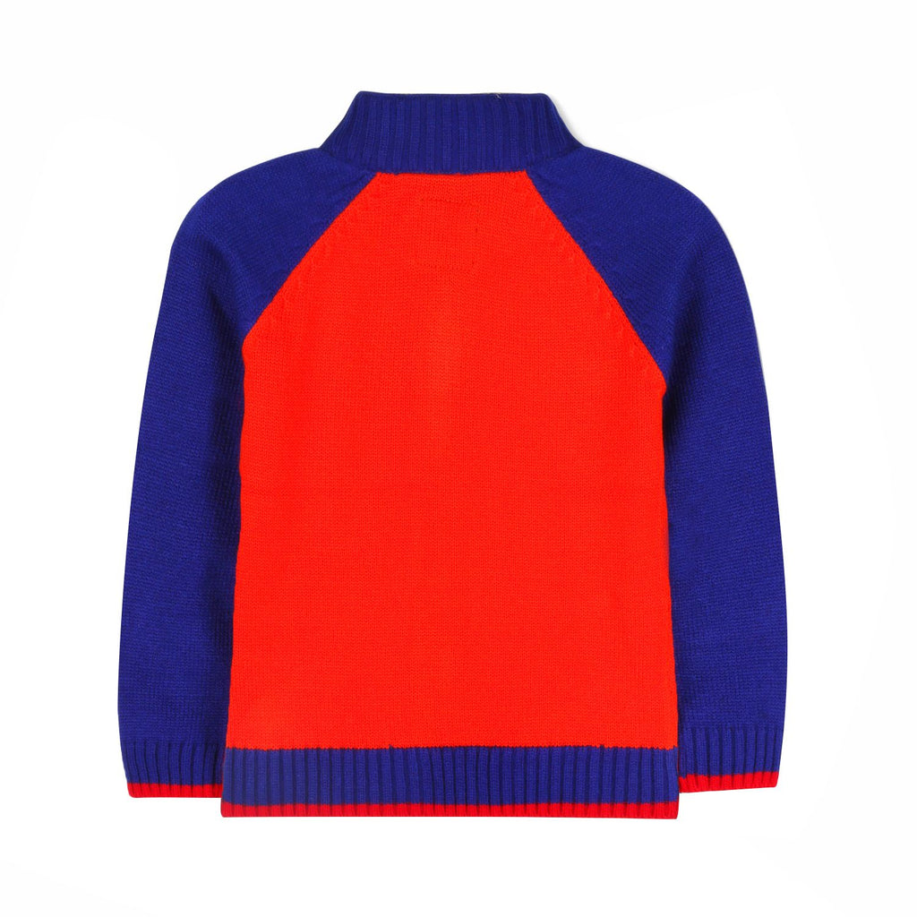 Sporty Zip Down Sweater for Boys