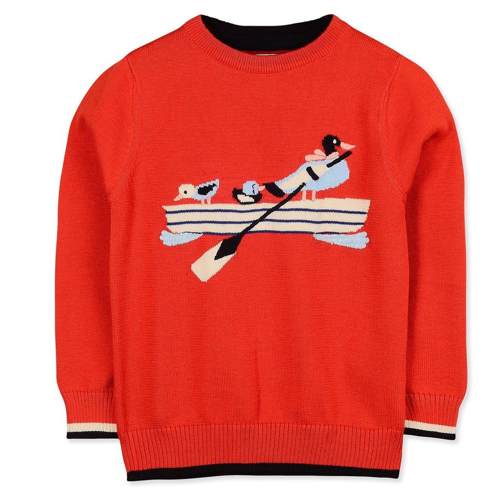 Row Away Sweater for kids