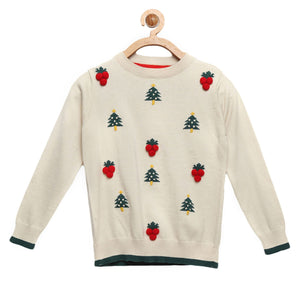 Knitted Cherry Sweater for Boys & Girls