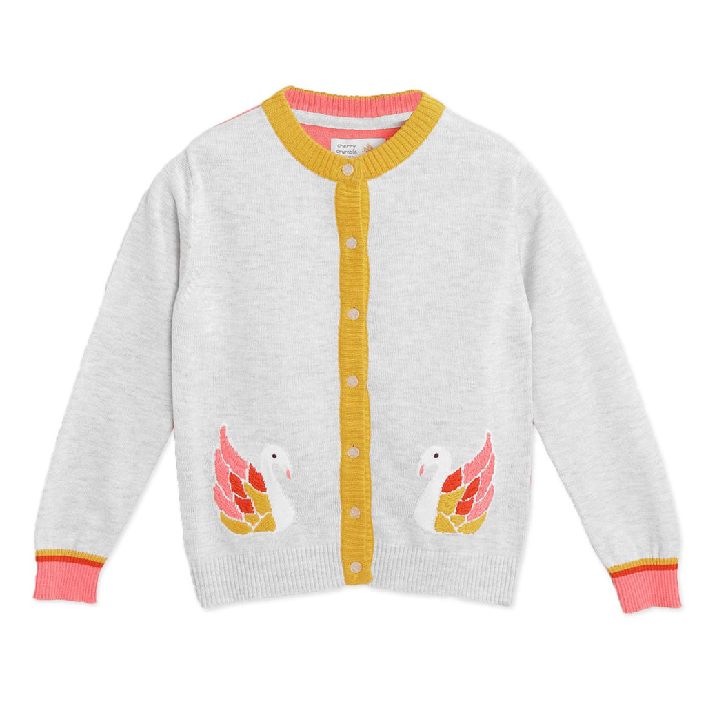 Swan Cardigan for Girls