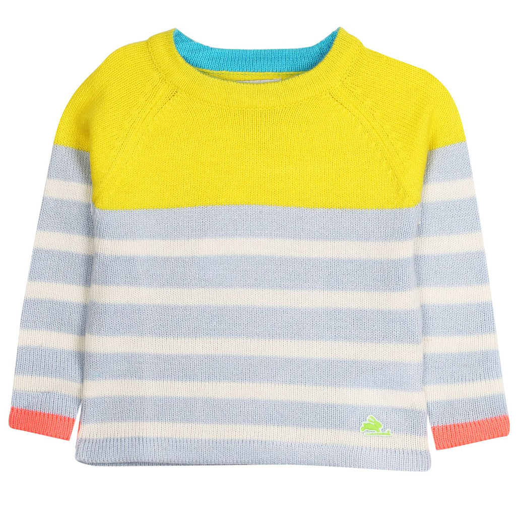 Stripy Knitted Play Sweater for Boys