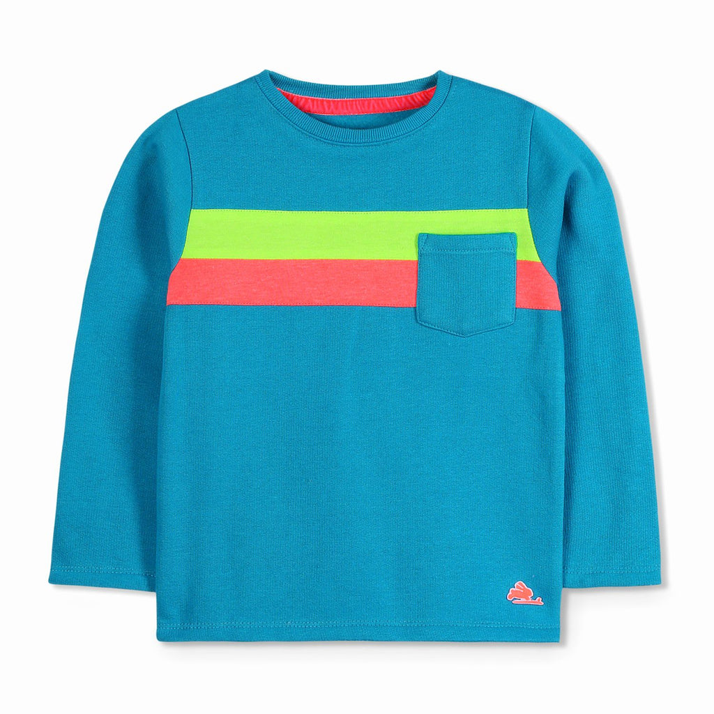 Classic Colorblock Sweatshirt for Boys