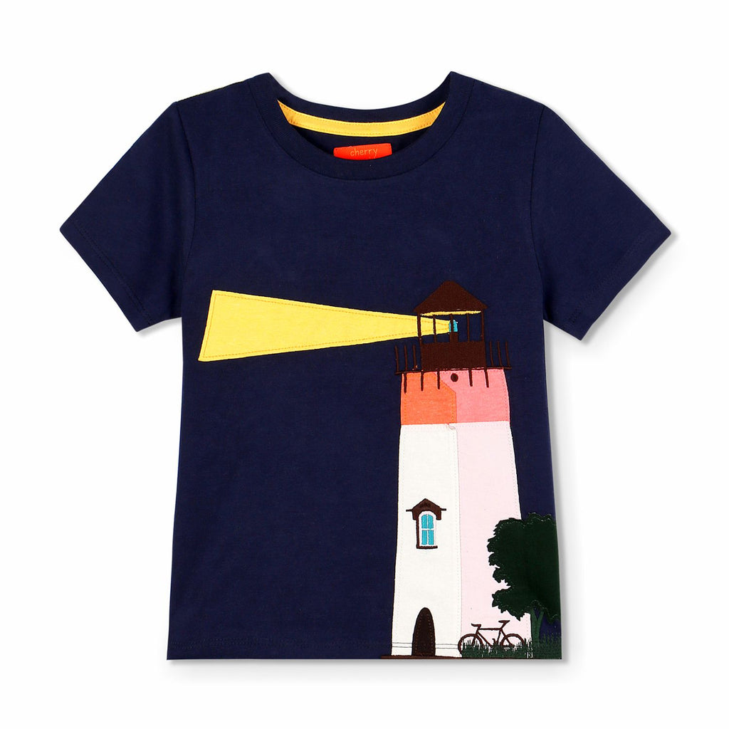 Lighthouse Applique Tee for kids