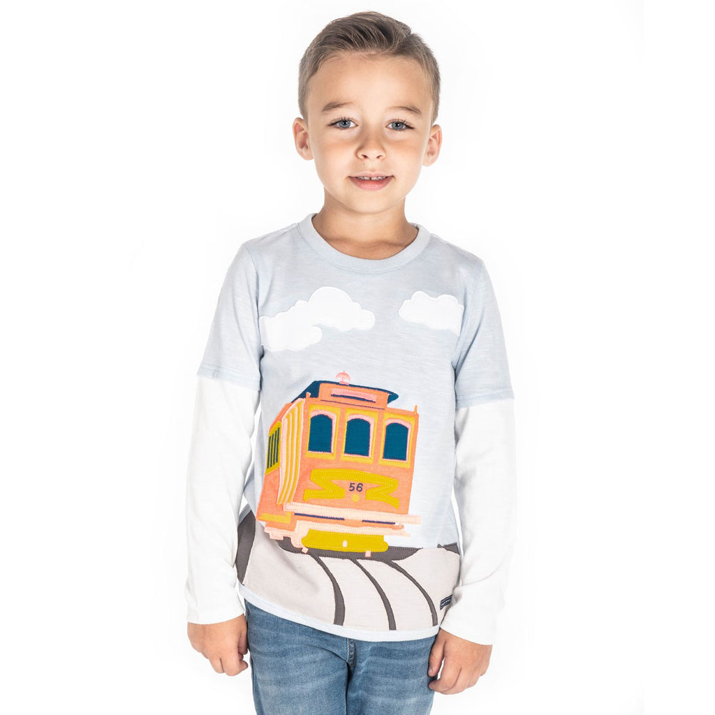 Tram Applique Tee for Boys