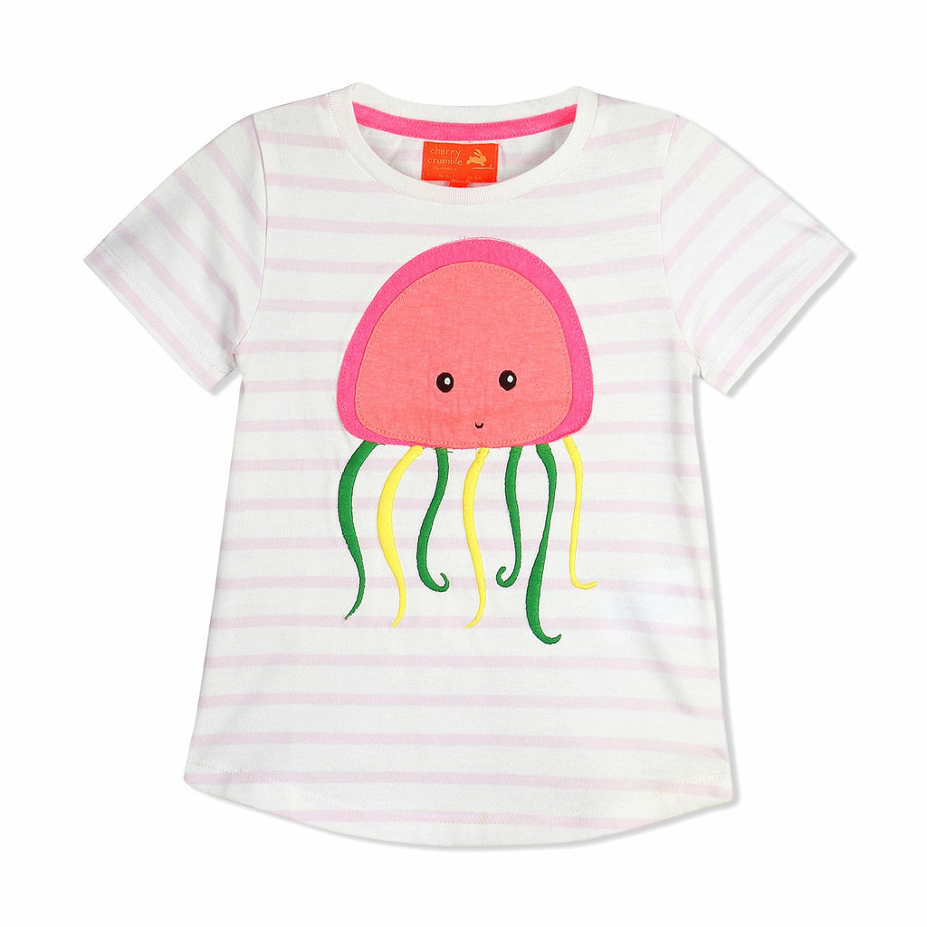 Cute Applique Tee for Girls