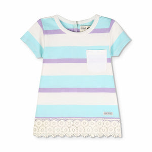 Lace Hem Pep Top for Girls