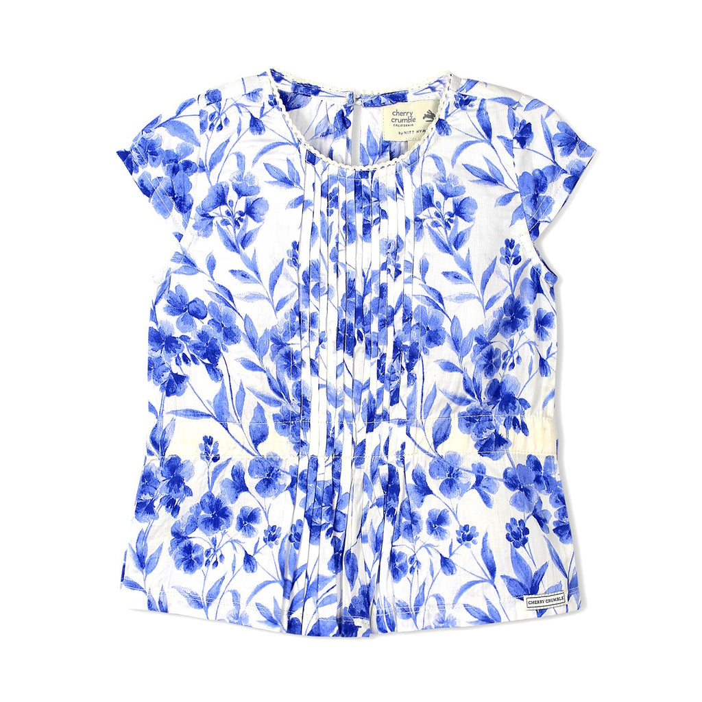 Floral Printed Lace Top for Girls