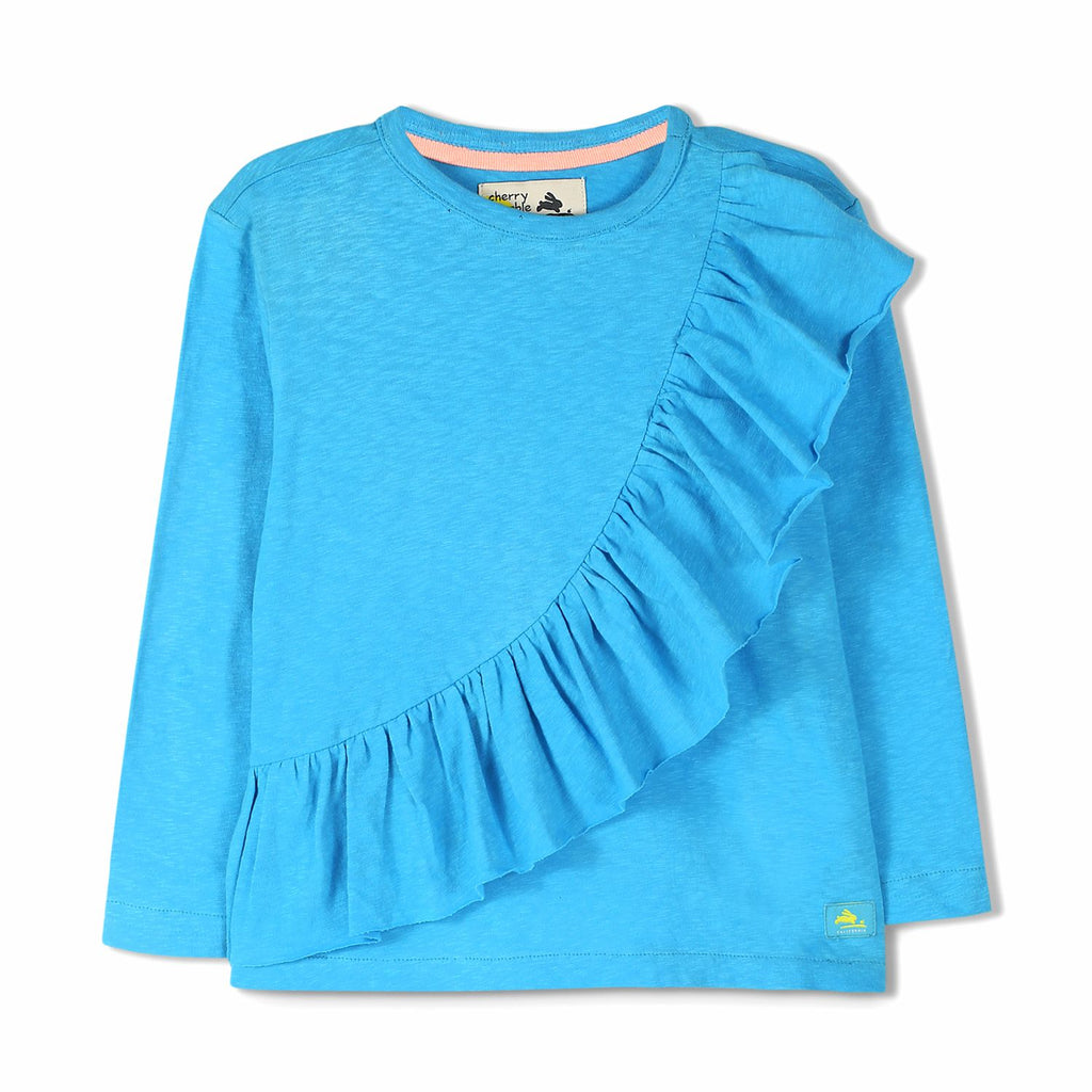Cotton Knit Wave Top  for Girls