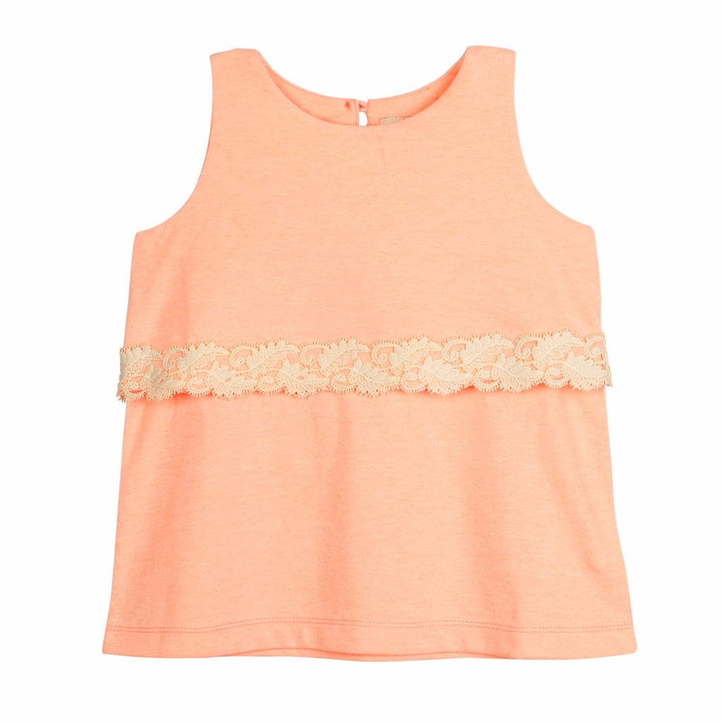 Lace Trim Top for Girls