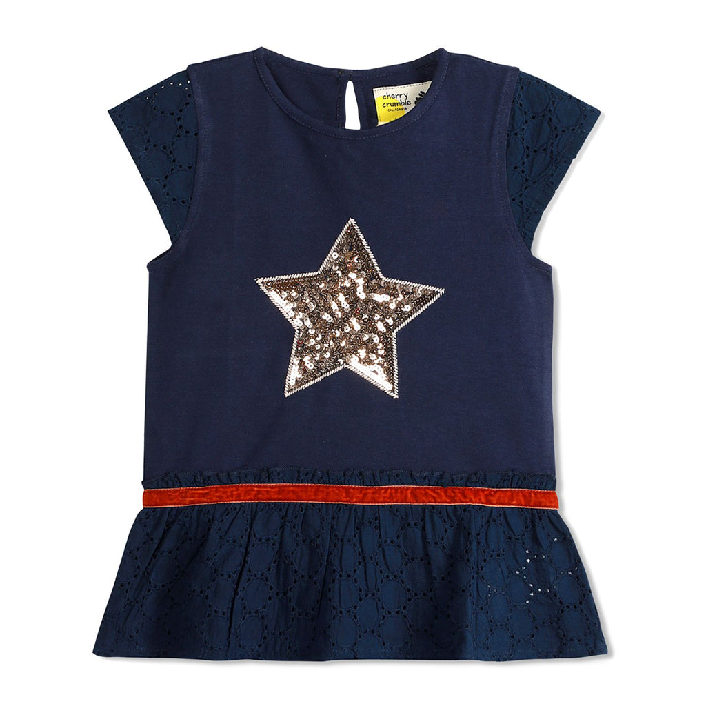 Shine Graphic Peplum Top for Girls