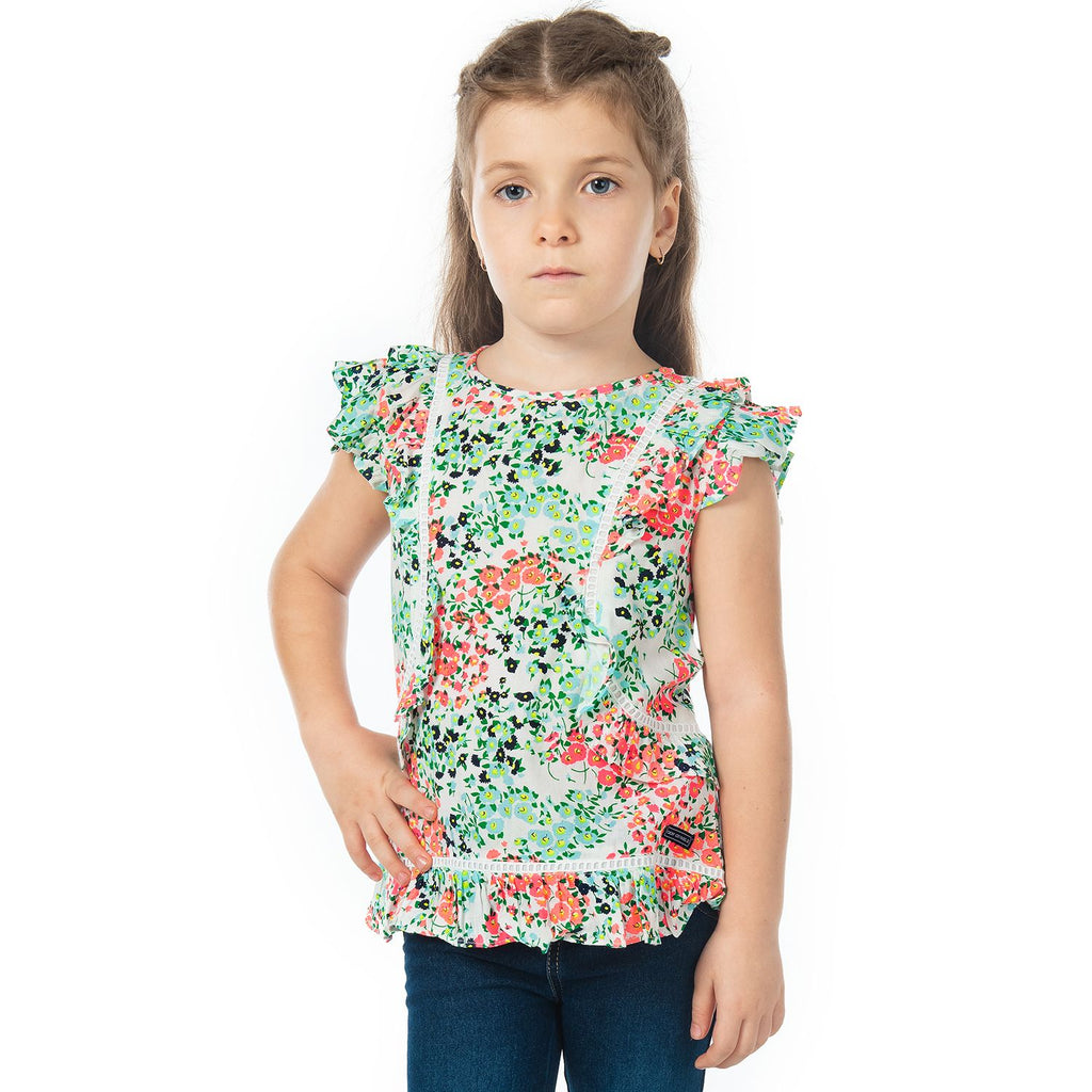 Grand Floral Top for Girls