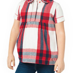 Pretty Check Top for Girls