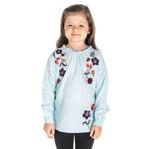 English Flower Top for Girls