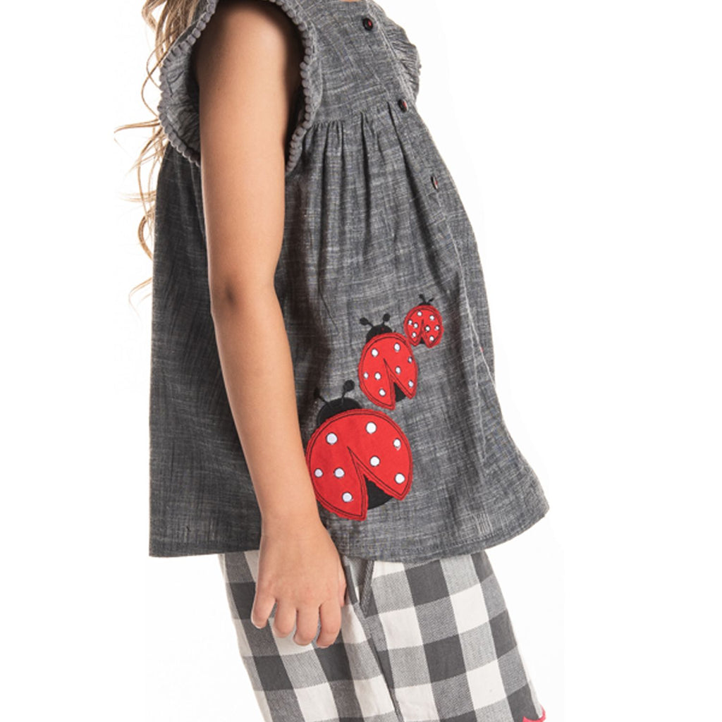 Ladybird Top for Girls