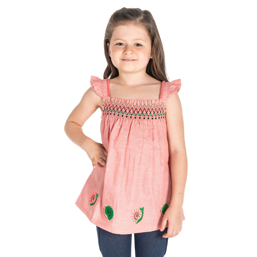 Granny Smocking Top for Girls