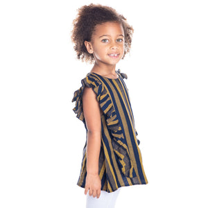 Mustard Stripes Top for Girls