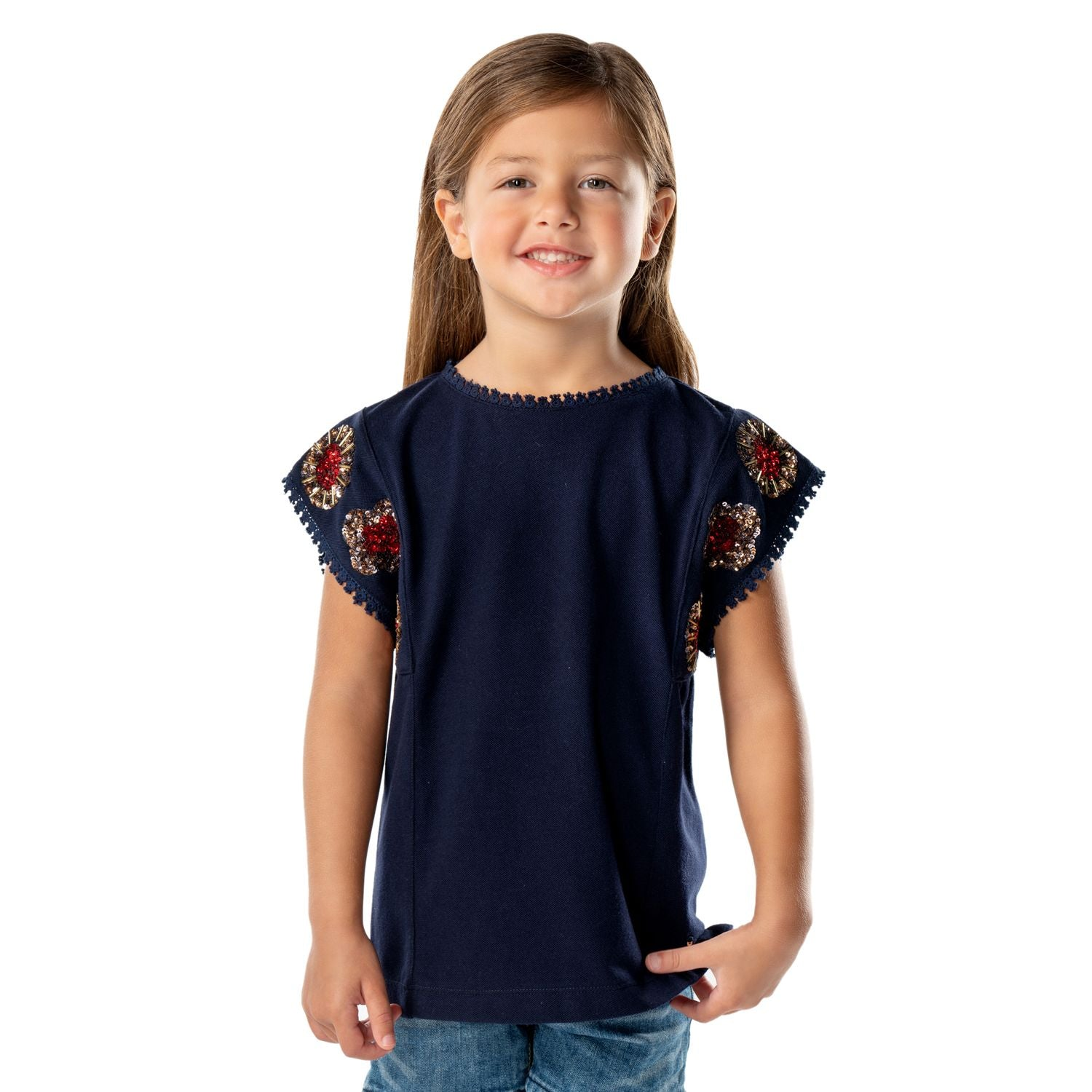 Emblem Top for Girls