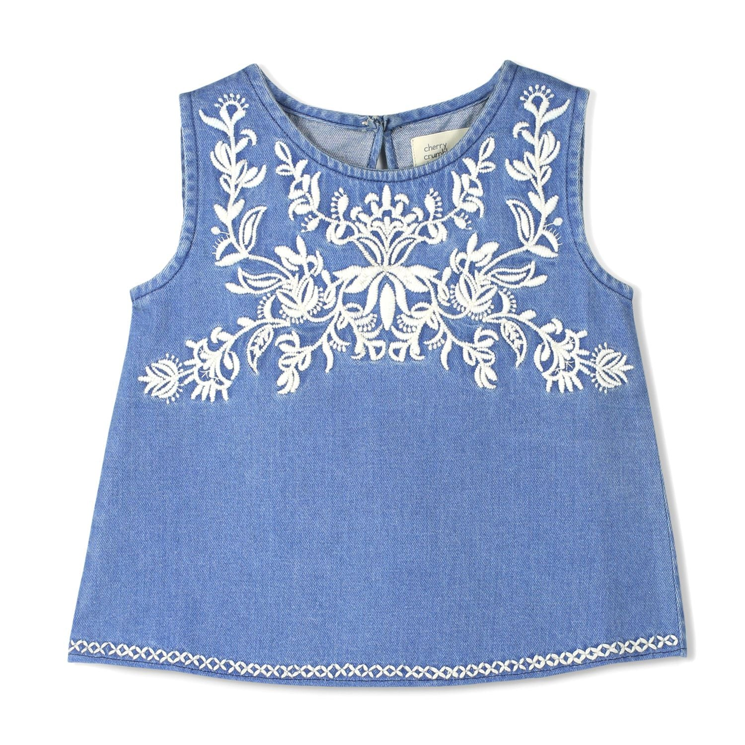 Embroidered Shell Tank Top for Girls