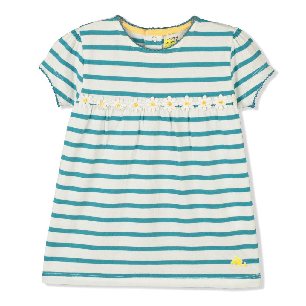 Neat Striped Top for Girls