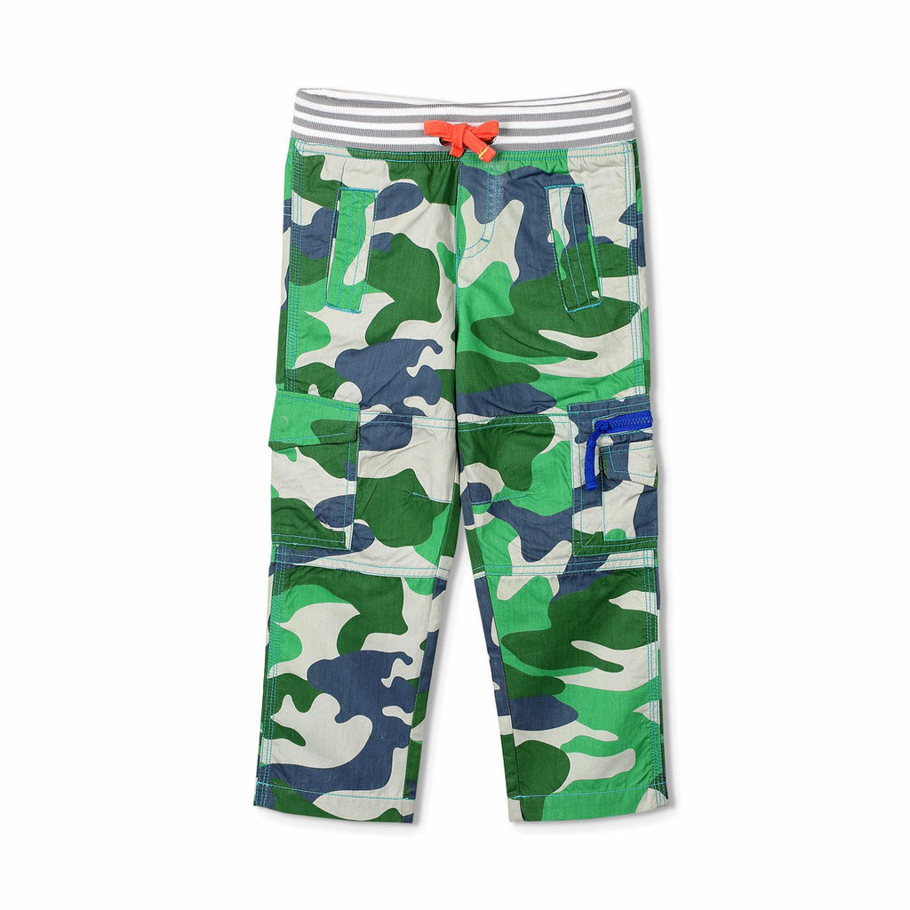 Camouflage Ribbed Cargo Pant for Boys