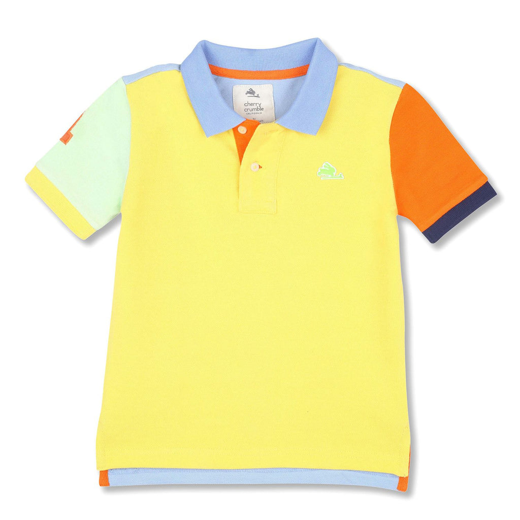 Soft Organic Cotton Cut N Sew Polo Shirt for Boys