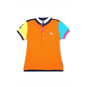 Soft Organic Cotton Cut N Sew Polo Shirt for Girls