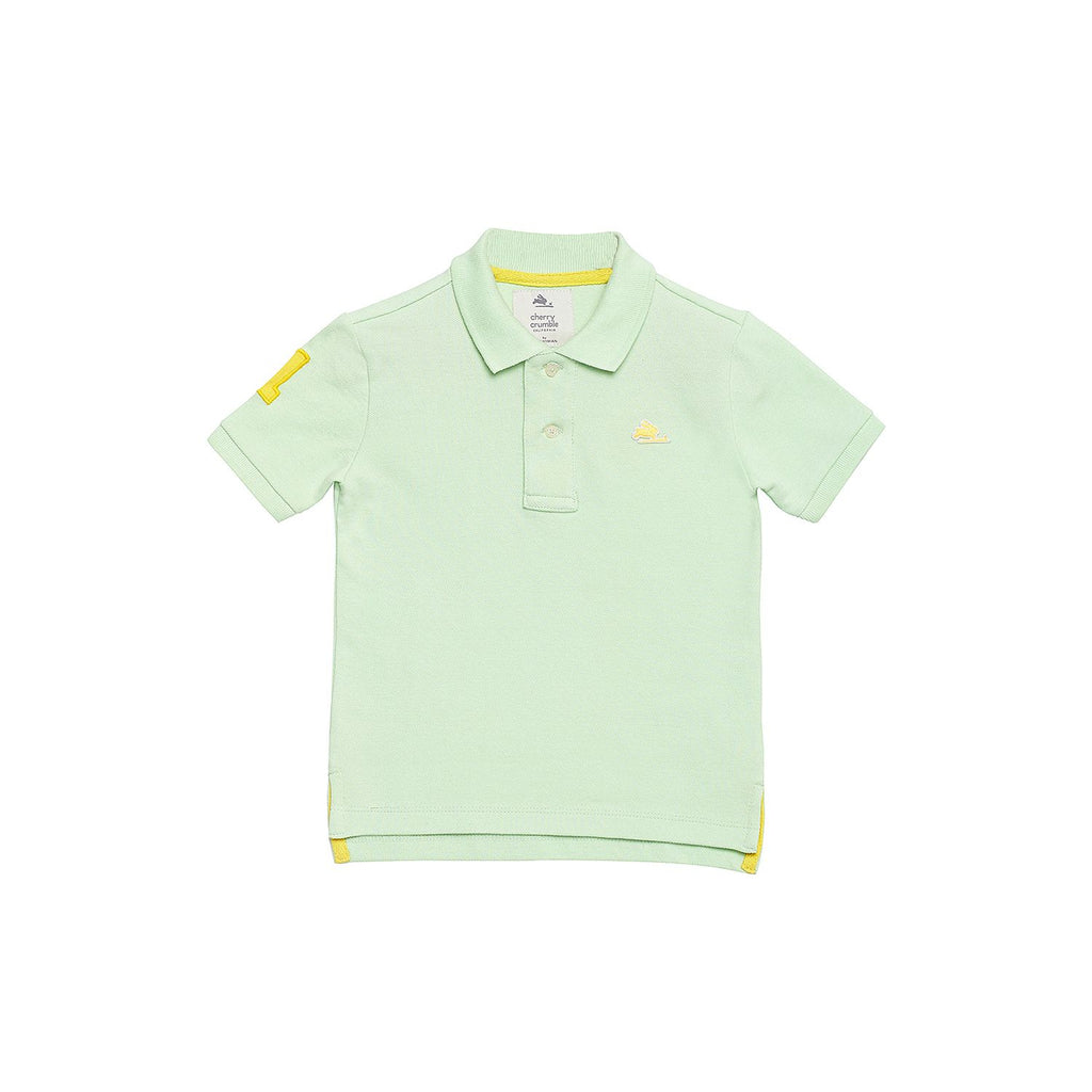 Organic Cotton Solid Polo Tee for Boys