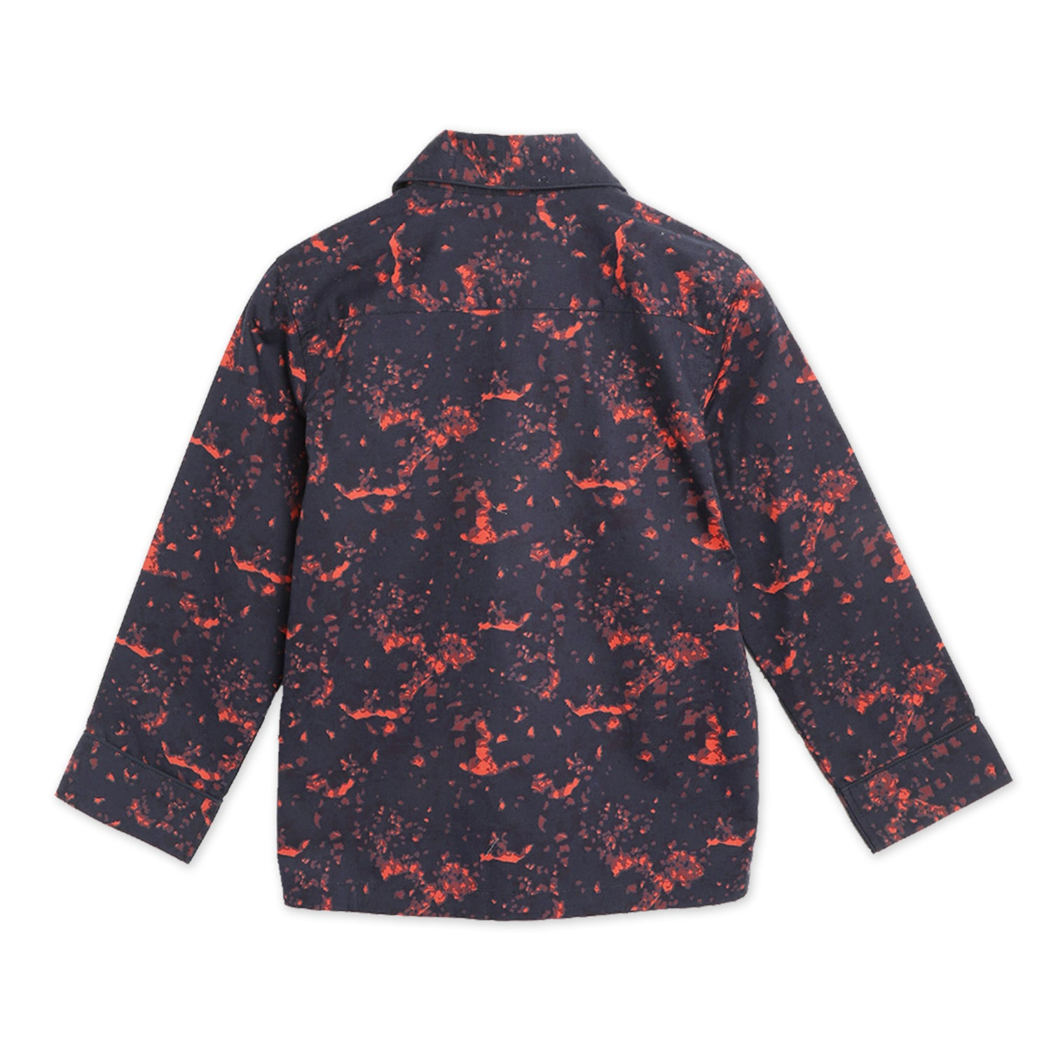 Cherry-Crumble-Kids-Unisex-Long-Regular-Sleeves-Collared-Full-Length-Abstract-Shirt-Pyjama-Nightsuit