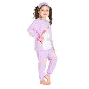 Unicorn-Applique-Winter-Nightsuit-With-Eye-Mask