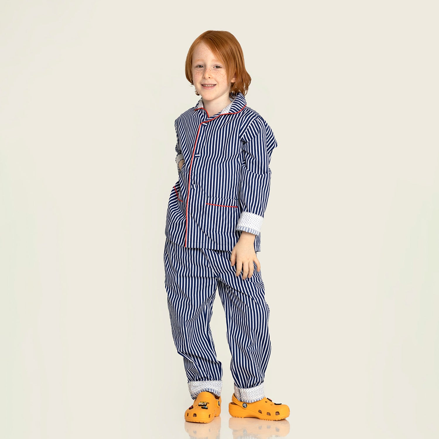 Cherry-Crumble-Kids-Full-Sleeve-Cuffed-Sleeve-Collared-Striped-Shirt-&-Pyjama-Nightsuit