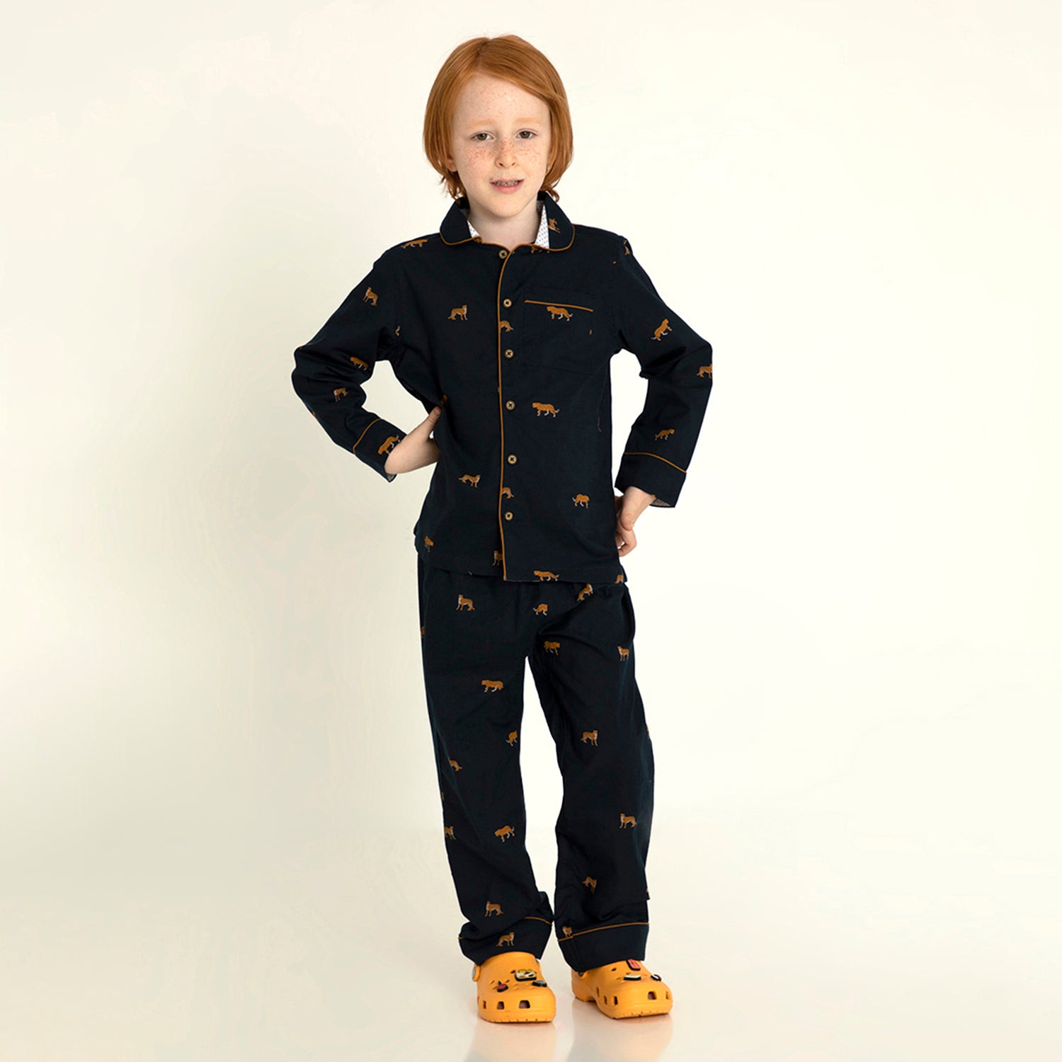 Cherry-Crumble-Kids-Full-Sleeve-Regular-Sleeve-Collared-Printed-Shirt-&-Pyjama-Nightsuit