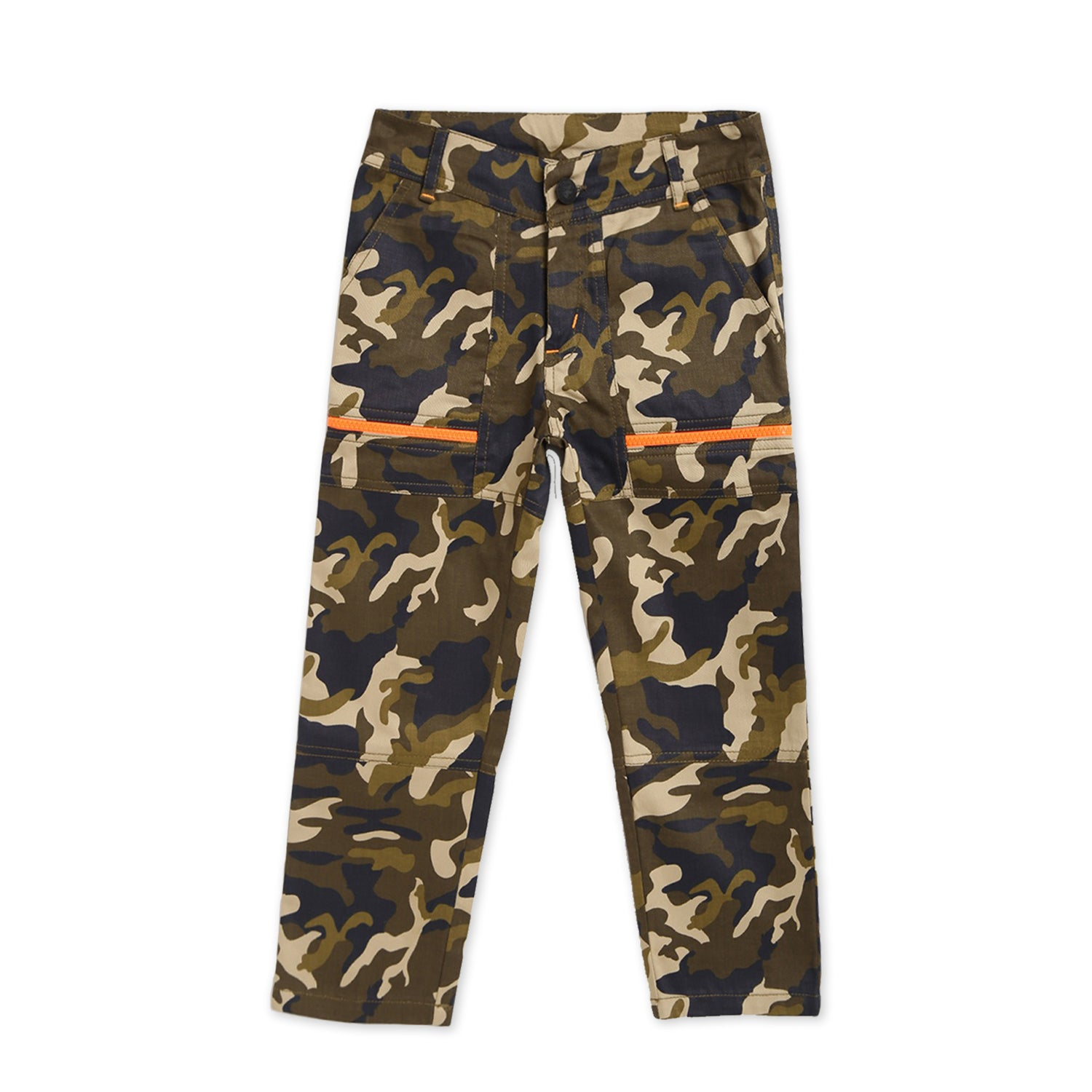 Kids-Camouflage-Zipper-Pants