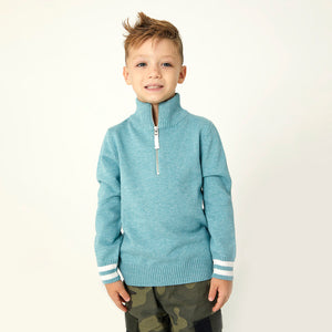 French-Half-Zip-Sweater