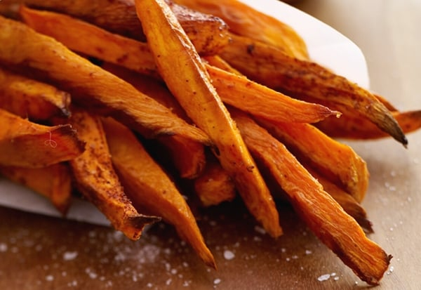 Cinnamon-Pear Balsamic Roasted Sweet Potatoes