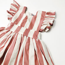 Load image into Gallery viewer, the mazie pinafore valentine edition {carnival stripe}