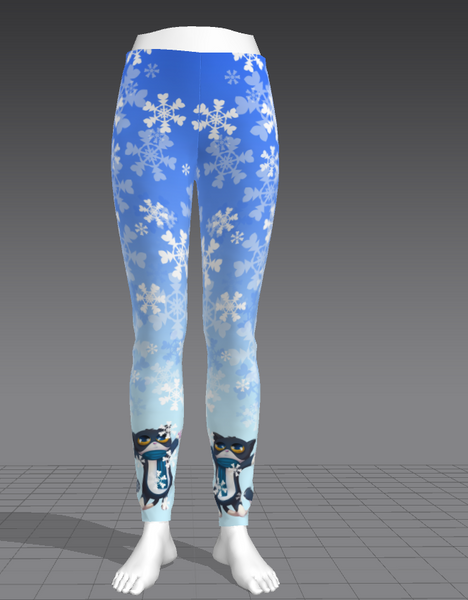 Cat Paw Winter Leggings