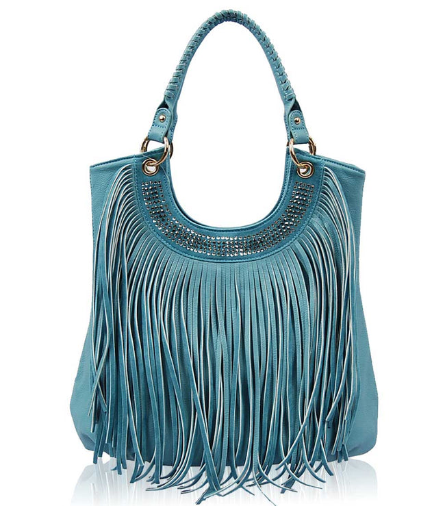 Sara Fringe Shoulder Bag 14-476 - Vietafashion