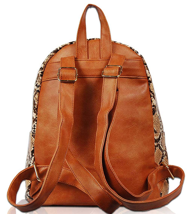 Sierra Reptilian Skin Look Backpack BP1738 - Vietafashion