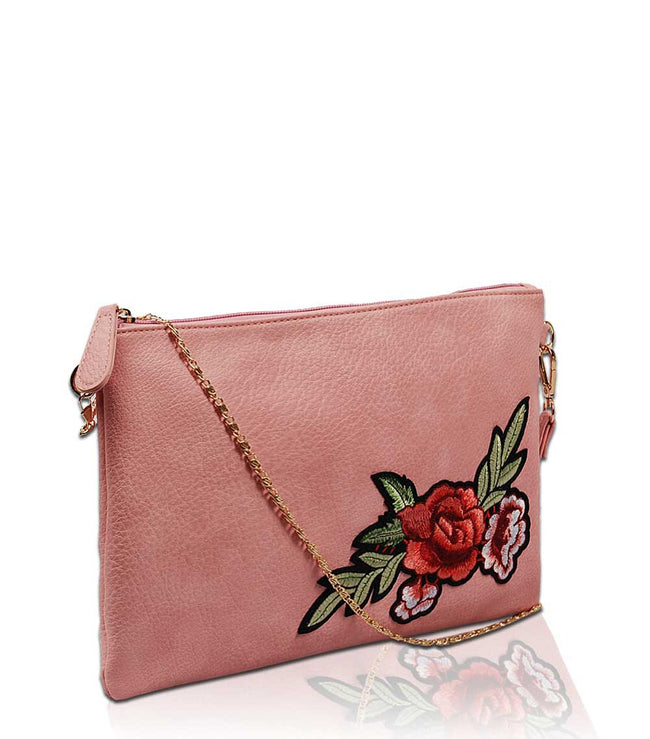 Zinnia Embroidery Clutch EB1438 - Vietafashion