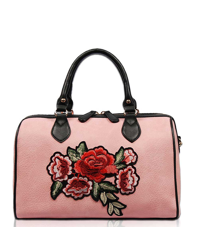 Petal Embroidery Boston Bag EB1441 - Vietafashion