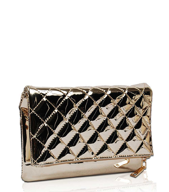 Goldie Metallic Clutch MM1492 - Vietafashion
