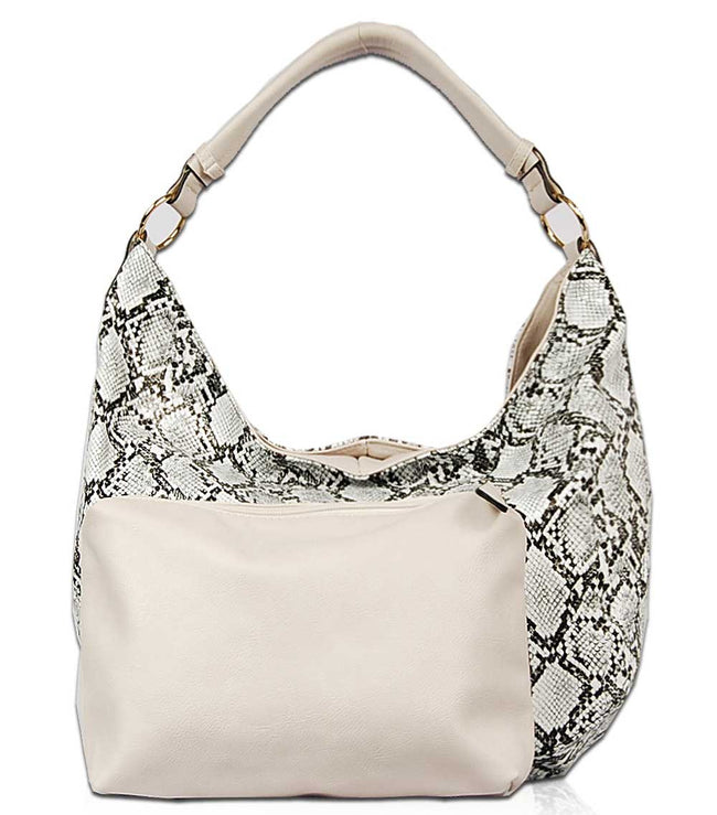 Jacintha Reptilian Skin Look Hobo Bag PY1735 - Vietafashion