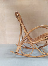 Charger l'image dans la galerie, Rocking chair rotin