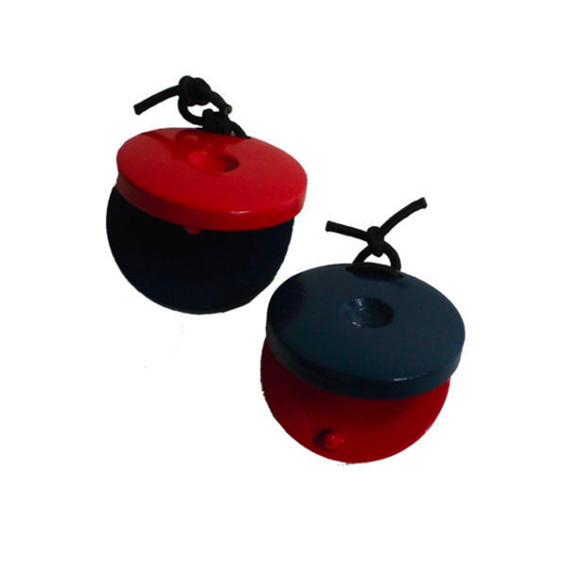 CPK  UE542 Wooden Castanets Red & Blue , Pair.